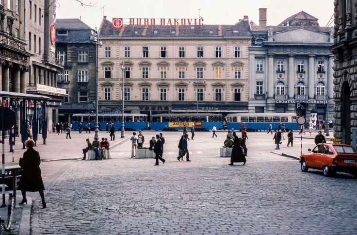 Zagreb, currently the capital of Croatia in 1980s