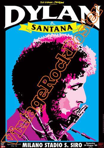 165- BOB DYLAN - Milano,S.Siro,italy - 24 giugno 1984- poster artistico concerto