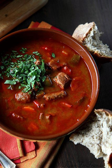 Hungarian Beef Goulash (Gulyás Leves) If you asked me a couple weeks ago what my favorite spices were, paprika would not have made the list. Not by a long shot. In fact, I hardly thought of paprika as anything more than a dash of color atop deviled eggs. Besides it's bright hue, what was it …