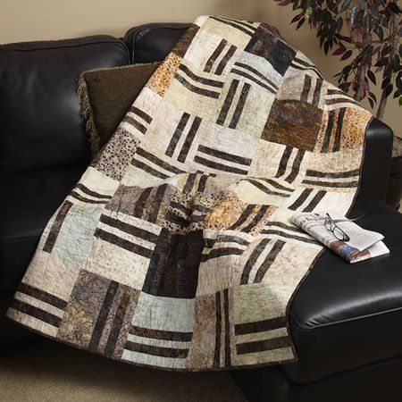 I LOVE THIS ONE A masculine quilt. The referenced magazine is in the articles.