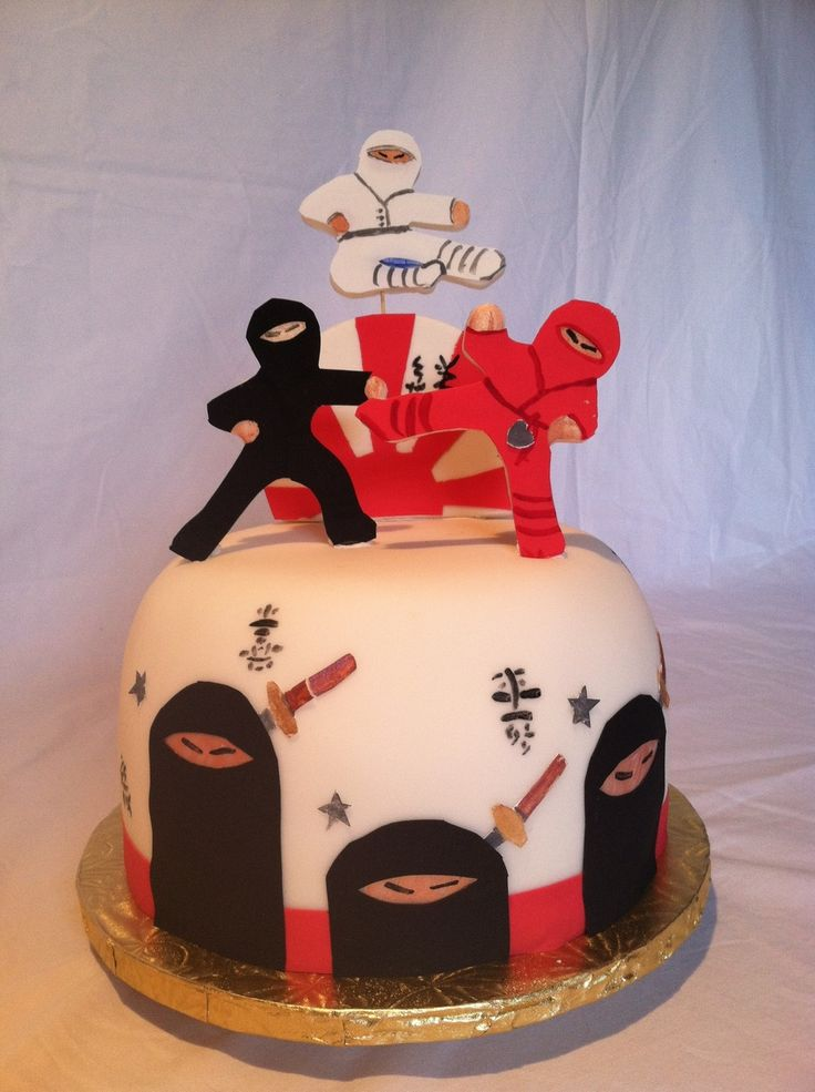 1000 Ideas About Ninja Cake On Pinterest Ninja Birthday