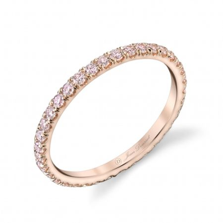 ANGELINA PINK is a handcrafted Jean Dousset Diamonds La Vie en Rose® wedding ring – JeanDousset.com – set with rare, natural Fancy Argyle Pink diamonds that are imported from the premiere Argyle Diamond Mine in Western Australia.