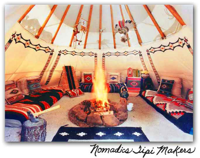 wouldn't it be cool to have a teepee set up on your property away from the house and unplug.