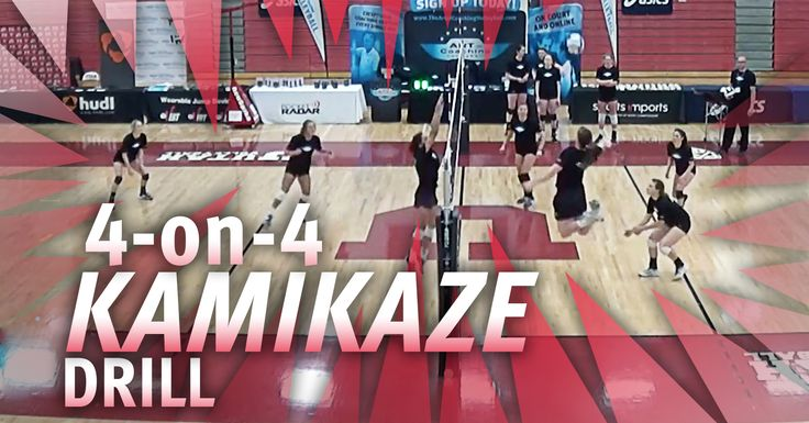 4-on-4 Kamikaze volleyball drill with Beth Launiere