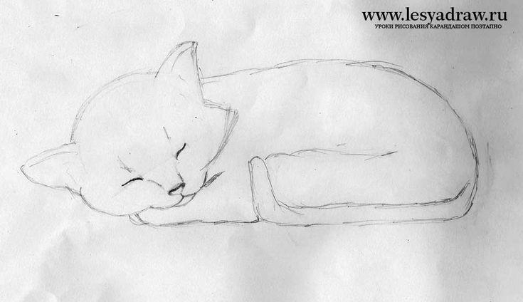 как нарисовать кошечку на лежанке ребенку 9 лет: 14 тыс ...
