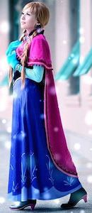 Frozen Princess Anna Costume For Kids And Adults