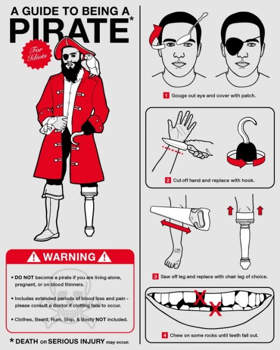 How to Become a Pirate for Dummies [Infographic] | Daily Infographic