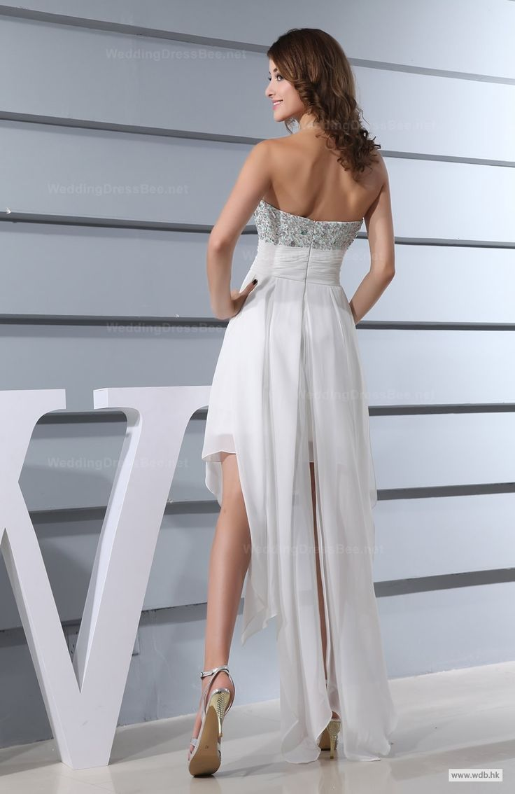 custom bridesmaid dresses Exquisite Fully Beaded Top with Empire Waist High-Low Dress $148.98