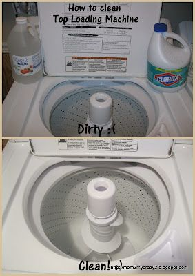 How to Clean Top Loading Washer Machine...awesome since my washing machine has been looking a little funny on the inside lately just didn't know how to clean...now i do!