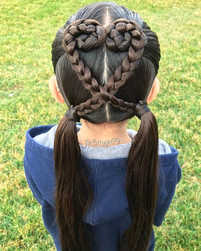 #braidstyles #pigtailbraids #sweetheartshairdesign
