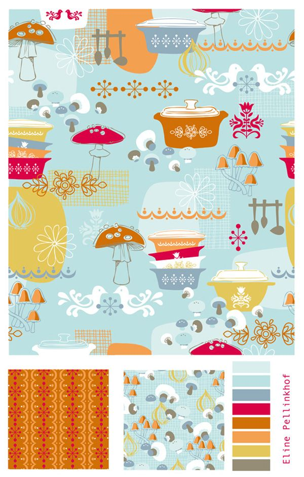 Eline Pellinkhof Pyrex patterned fabric