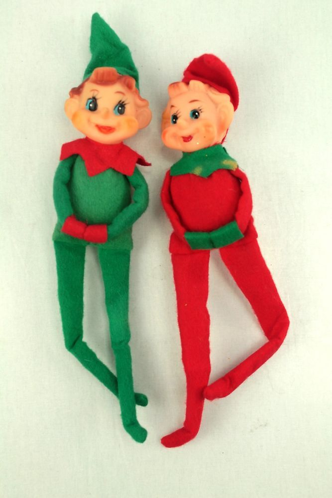 Vintage Elf On The Shelf Red Amp Green Felt Knee Hugger