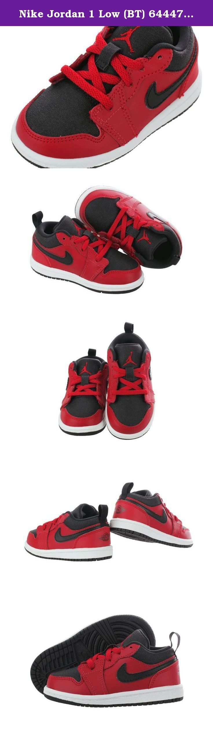 Nike Jordan 1 Low (BT) 644476-602 Toddler Casual Shoes 5 M US Toddler Gym Red / Black - White. Ever since its debut of the Jordan 1s it has forever changed the Air Jordan line in 1985. These ageless basketball shoes were introduced by Michael Jordan in black and red color way only but since then have produced many color ways. Get your little one started on the right foot with the Jordan.