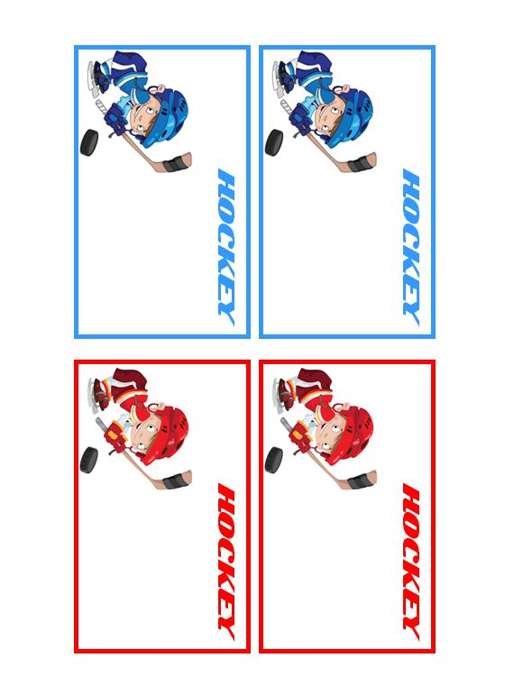 Customize Your Free Printable Hockey Players Name Tags