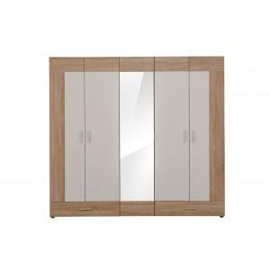 Dormitor Vega-dulap 5K2FO stejar sonoma+alb