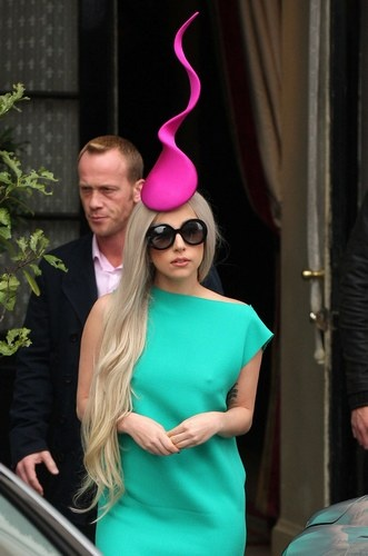 Lady Gaga  (definitely have to duck going through a door with this one)