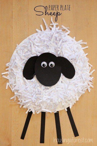 Machen Sie einen Pappteller Sheep