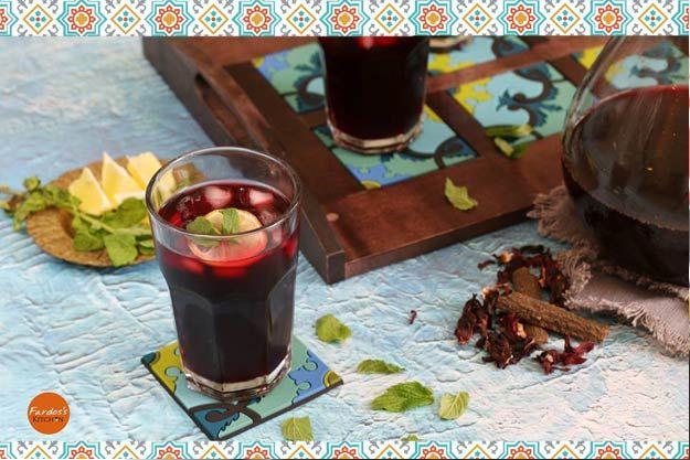 طريقة عمل عصير الكركديه الطازج المنقوع بيتى مملكتى Healthy Drinks Alcoholic Drinks Drinks