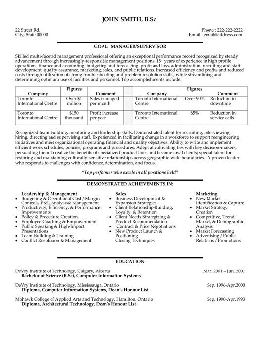 18 best Best Project Management Resume Templates \ Samples images - logistics manager resume