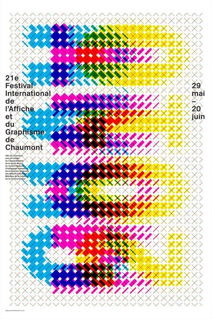 Typographique : trame, superposition, module. 21e festival chaumont (2010) affiche karel martens