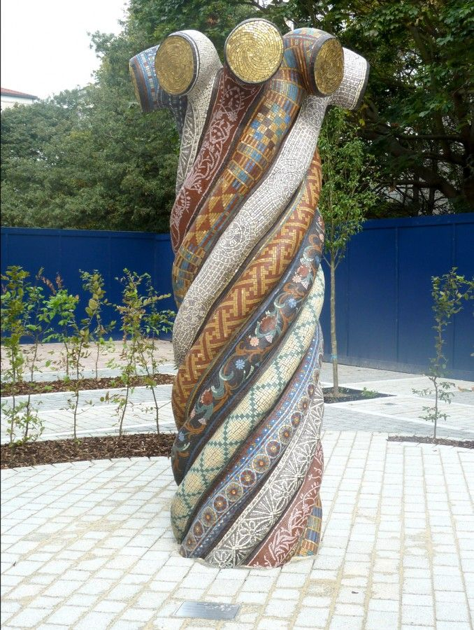 """Gary Drostle """"Entwined Histories"""" 2012 10 x 3 x 3 ft. Best In Show Mosaic Arts International 2013"""