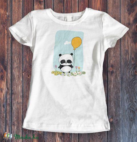 Panda női fehér póló (tejedigitalart) - Meska.hu