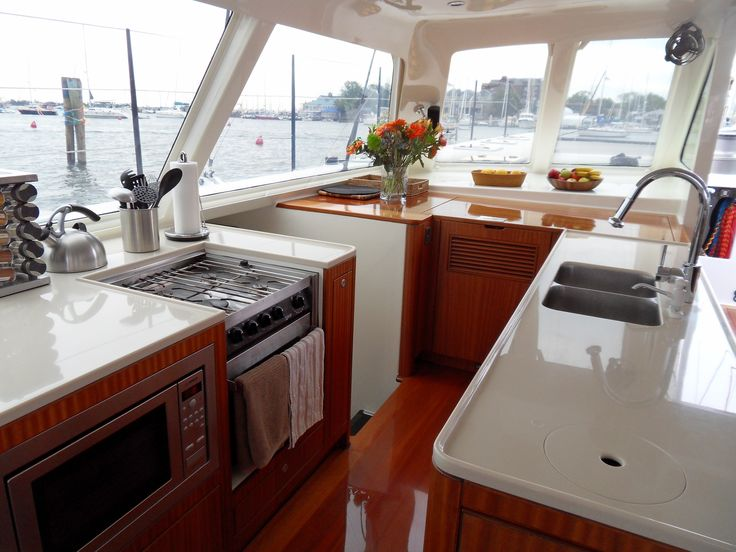 Gunboat galley the boat pinterest for Boat galley kitchen designs