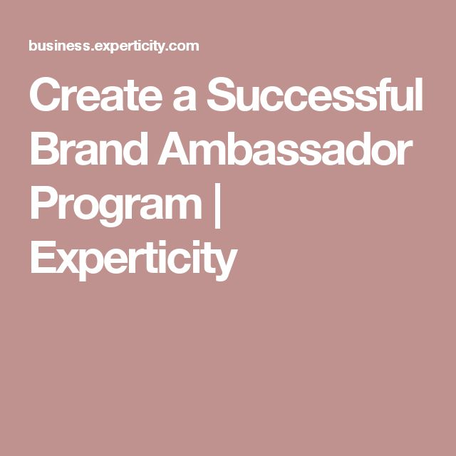 Create a Successful Brand Ambassador Program | Experticity