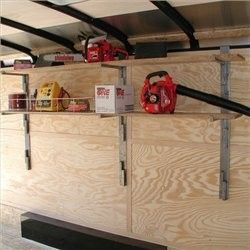#RA-24 RACK 'EM Sidewall Sliding Shelf Kit - Landscape Trailer Accessories (Enclosed Trailers) - Trailer Accessories