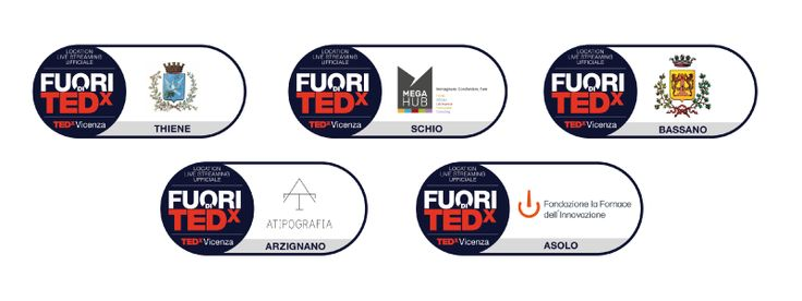 Le 5 location live streaming di TEDxVicenza 2016.  #TEDx #Vicenza #PlayPauseRestart