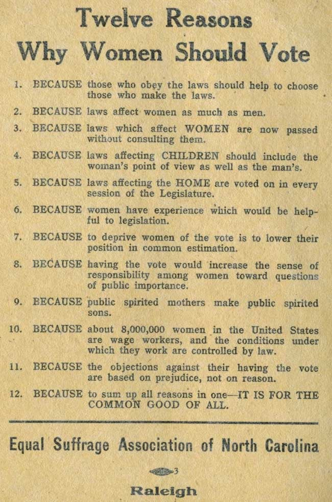 why women should vote Why women should vote 8-24-8  this is the story of our grandmothers and great-grandmothers they lived only 90 years ago remember, it was not.