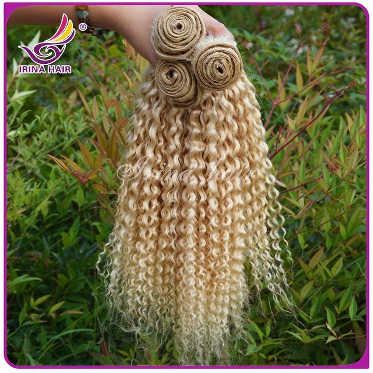 Alibaba экспресс 613 блондинка глубокая скручиваемость бразильские странный вьющиеся волосы переплетения 3 шт. пучки дешевые человеческих волос оптовая продажа