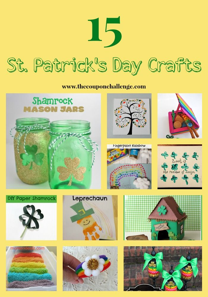 Try these EASY St. Patrick's Day Crafts to get your kids in the spirit.