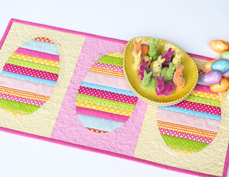 Sew Mama Sew Easter Tutorial Quilts 2 Table Runner
