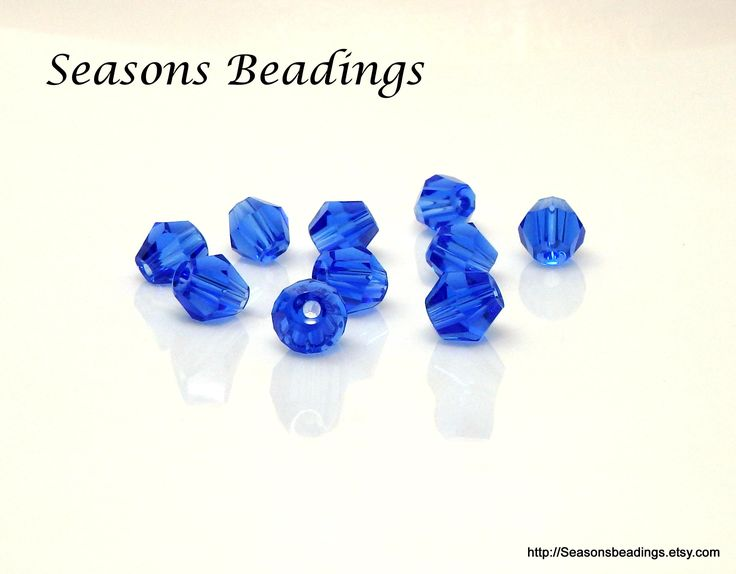 Excited to share the latest addition to my #etsy shop: 50 Translucent Blue 6mm Crystal Bicone Beads - Free Shipping to Canada http://etsy.me/2C8Pv4Y #supplies #blue #bicone #jewelrymaking #crystal  #bead #crystalbead