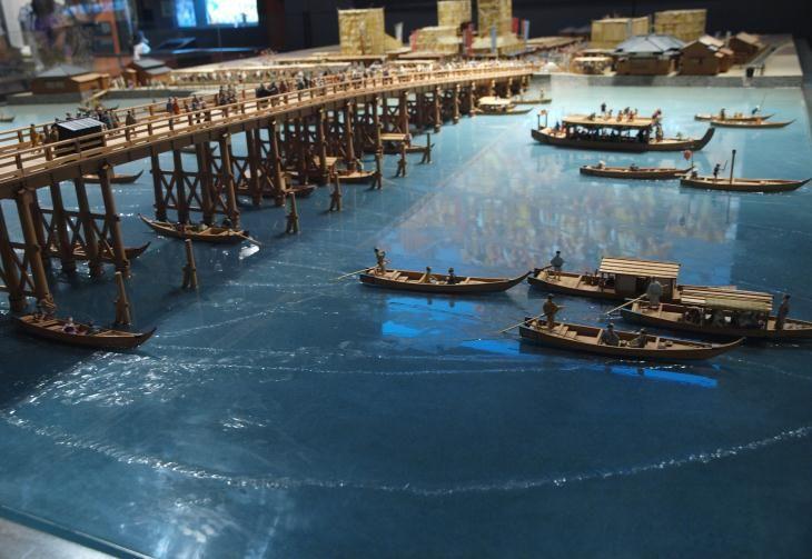 江戸東京博物館 12 江戸時代の両国橋界隈 - 光と影のつづれ織り