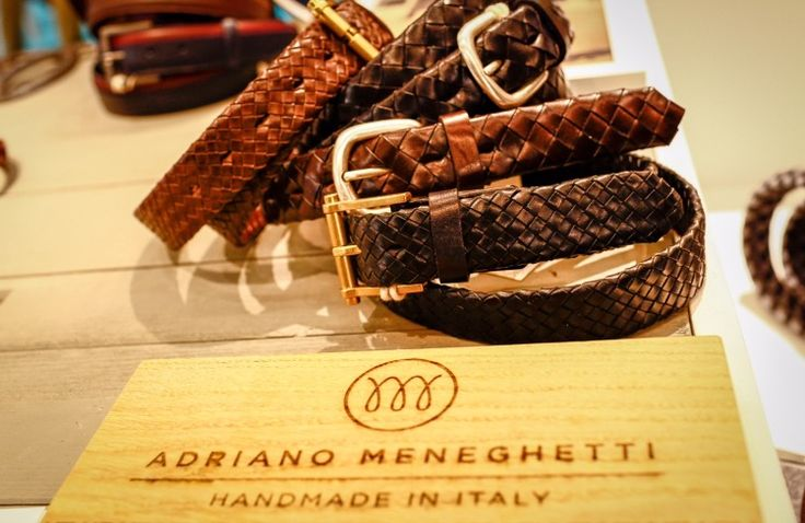 Traditional processes and the exclusive Made in Italy quality characterize every brand we choose.  Here at Pitti Uomo Adriano Meneghetti is showing some of its gorgeous hand made leather belts.   Discover the world of FINAEST.COM at link http://finaest.com/designers/adriano-meneghetti