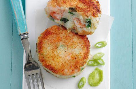 King prawn spring onion and wasabi fishcakes HERO