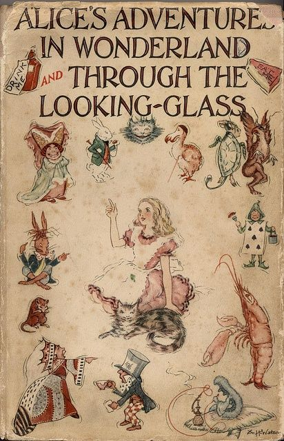 Alice In Wonderland Classic Book Cover ~ Best images about alice in wonderland through the