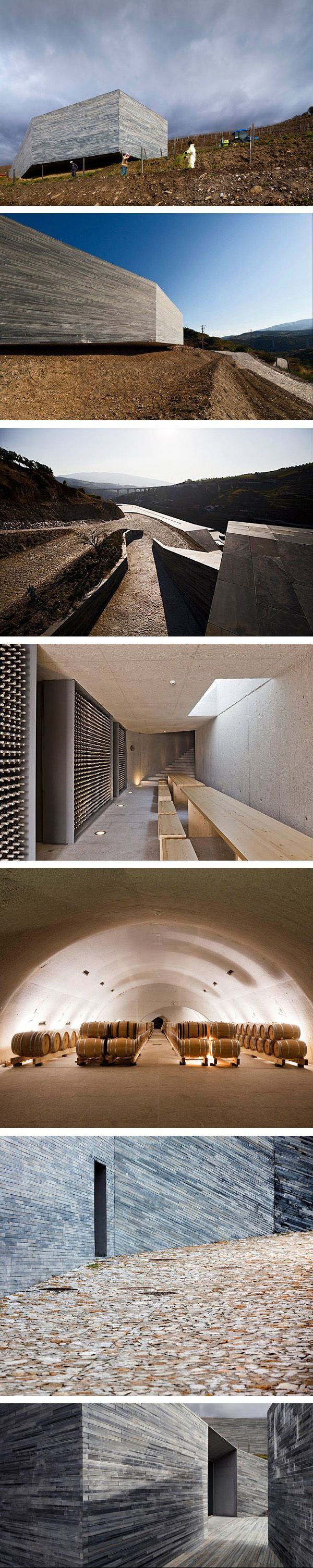 Superb use of materials and volume in Bodega Quinta Do Vallado, Portugal
