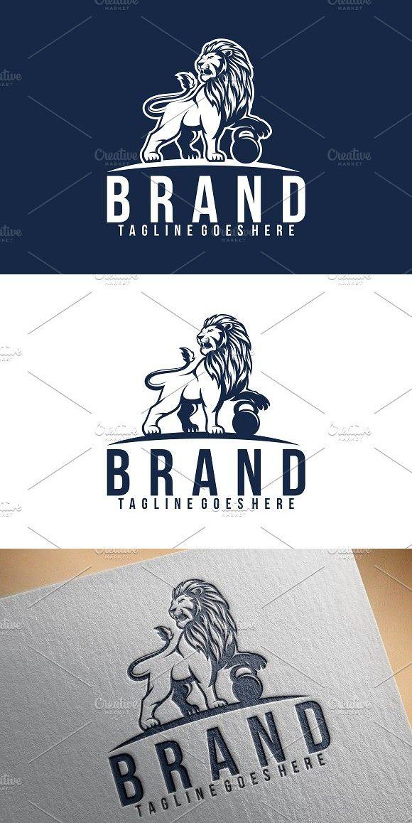 Lion Fitness Logo Fitness Logo Logo Templates Creative Branding