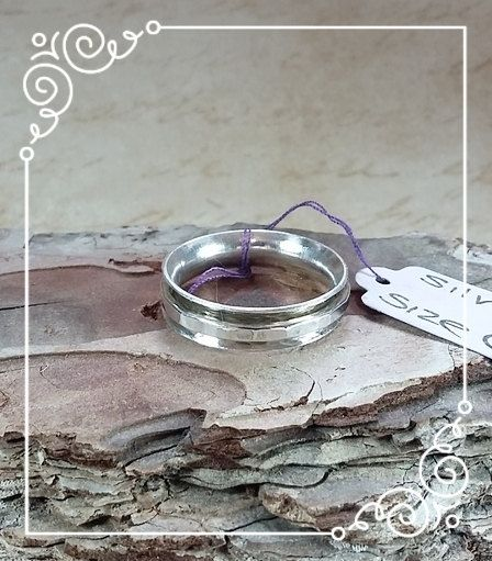 Sterling Silver Spinner Worry Ring Size Q by SilverandSpiceUK