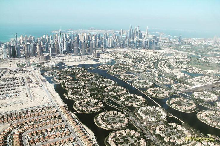 Dubai from the sky #mydubai #uae #dubai #jumeirahislands #jlt #marina #seawings #aerial #fromabove