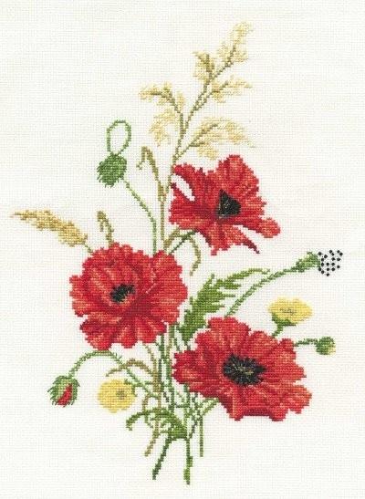 Cross Stitch Kit Poppies BK549