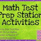 I am so excited to offer these grade 4 math test prep stations to help you spice up your math review before testing!  There are 10 fun stations wit...