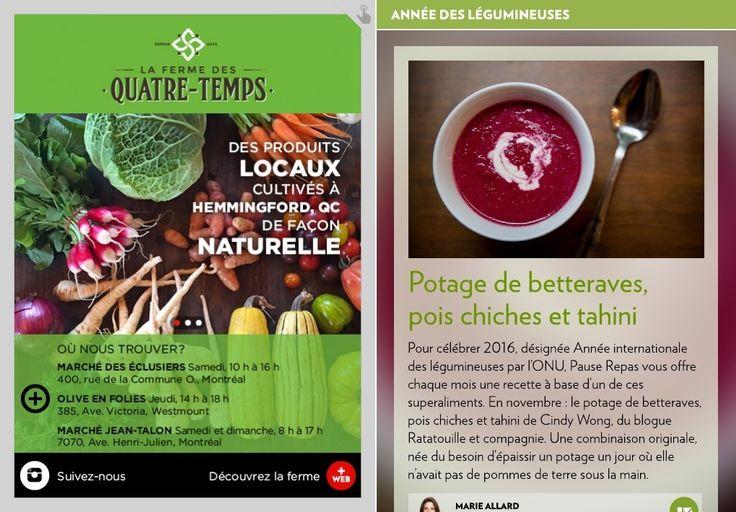Potage de betteraves, pois chiches et tahini - La Presse+