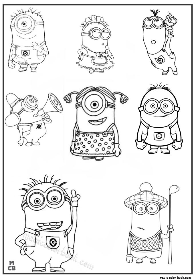 The 27 best minions coloring pages free images on for Minion banana coloring pages