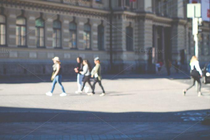 People walking by LarisaDeac on @creativemarket