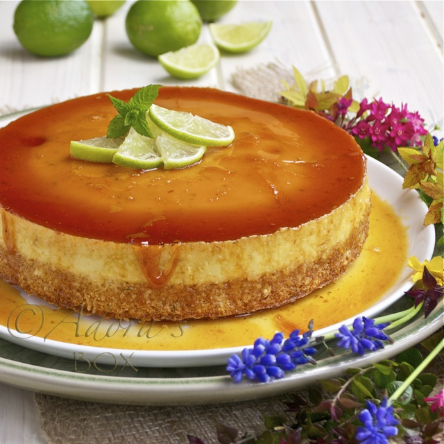 Leche Flan Cheesecake...yum I love cheesecake and flan who would have thought to combine them!