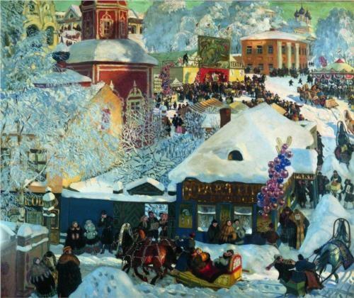 Winter. Shrovetide festivities - Boris Kustodiev
